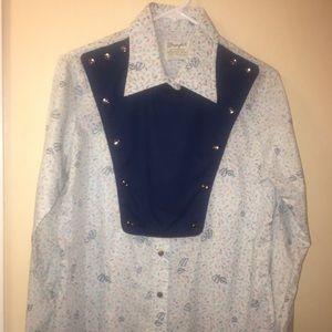 Vintage 80's Women's Western Calvary bib shirt
